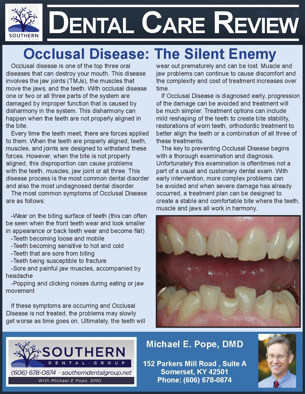 occlusal disease somerset ky