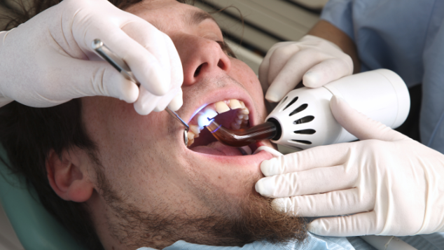 Man Getting Dental Bonding Work | Cosmetic Dentist Somerset KY